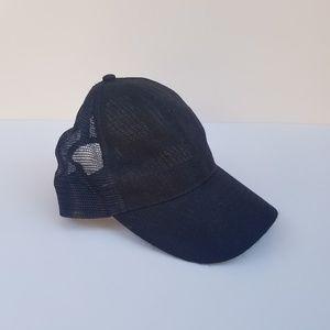 ⚡3/$12⚡ NWOT Black Mesh Baseball Hat